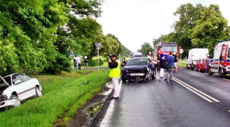 Pięć samochodów zderzyło się na drodze krajowej 92.
