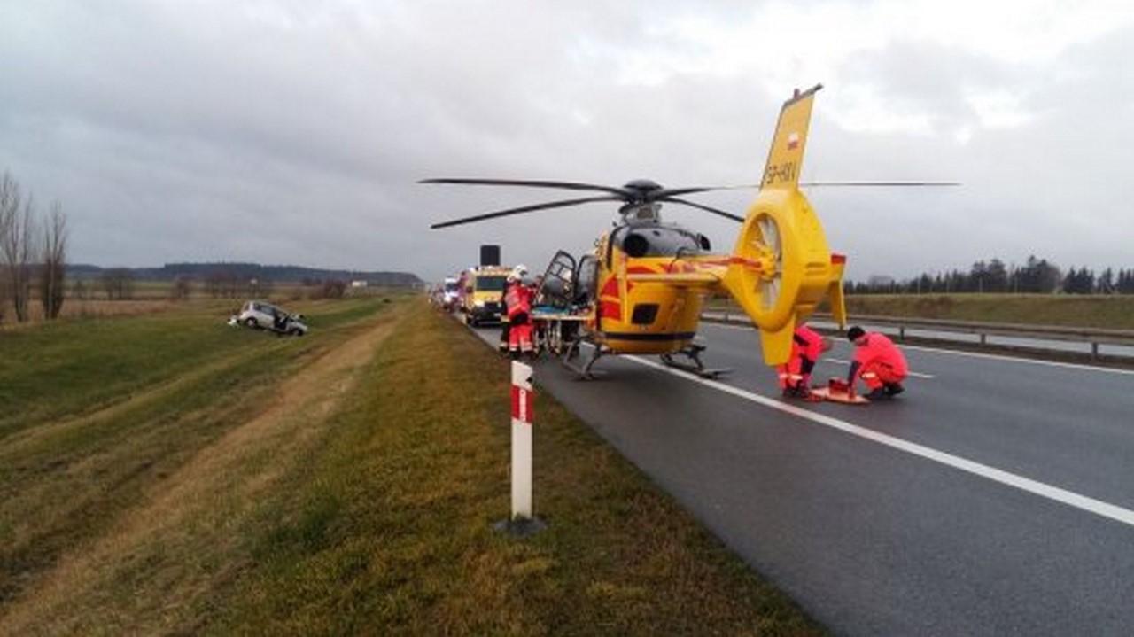 Nowy Tomyśl - Wypadek na A2, w okolicach miejscowości Głuponie. 6 osób rannych , w tym 5-letni chłopiec, trafili do szpitala
