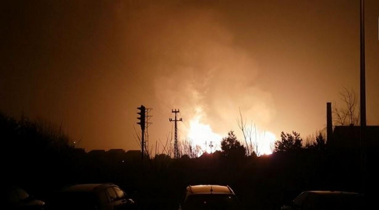 Pożar gazociągu w Murowanej Goślinie [AKTUALIZACJA]