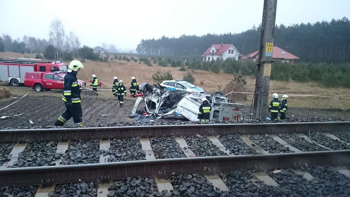 Uwaga ! Śmiertelny wypadek na przejeździe kolejowym ! Koleje Wielkopolskie apelują !
