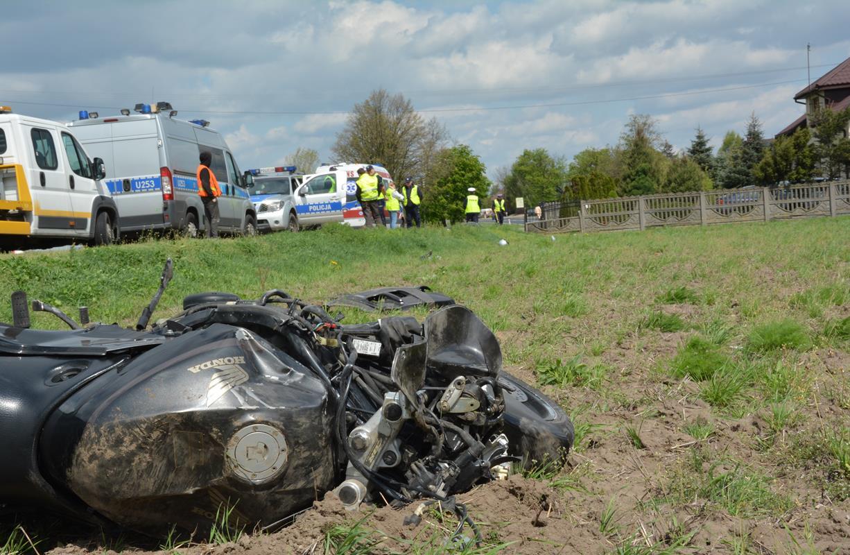 Tragedia ! Śmiertelny wypadek motocyklisty