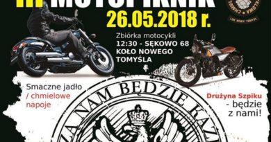 Uwaga ! Już jutro III Moto-Piknik, na który zaprasza Chmielowa Grupa Motocyklowa Nowy Tomyśl