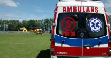 Kolejny osoba przebita metalowym prętem !!! Tym razem poszkodowany śmigłowcem LPR został przetransportowany do szpitala