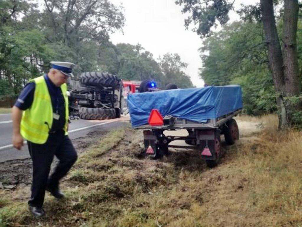Bardzo groźny wypadek ciągnika rolniczego