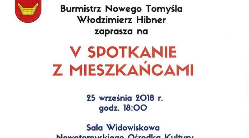 Nowy Tomyśl: Burmistrz Włodzimierz Hibner zaprasza na otwarte spotkanie z mieszkańcami