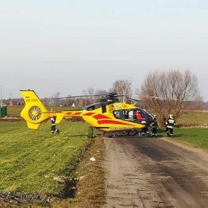 15 -latka spadła z konia ! Podejrzenie urazu kręgosłupa. Na miejscu śmigłowiec LPR