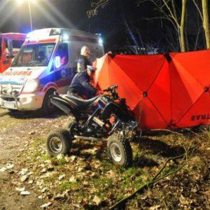 Tragedia na leśnej drodze ! Nie żyje 25-latek ! Quad uderzył w drzewo.
