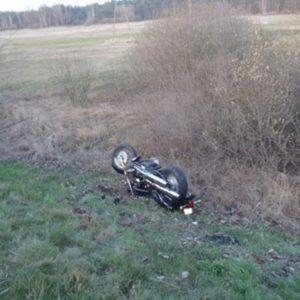 Śmiertelny wypadek motocyklisty!