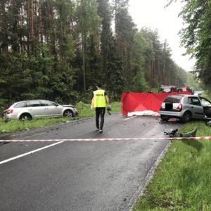 Tragedia! Śmiertelny wypadek na drodze wojewódzkiej! Nie żyją dwie osoby