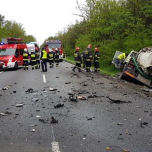 Wypadek drogowy ze skutkiem śmiertelnym na krajowej jedenastce