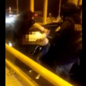 Zatrzymanie poszukiwanego ENA. Akcja policji przy bramkach na autostradzie A2. [FILM]