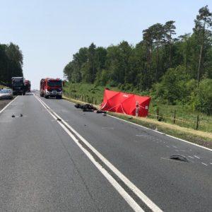 Tragedia na drodze... zginął młody motocyklista. Apelujemy o rozwagę!!!