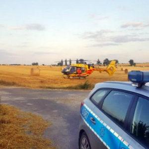 Tragiczny wypadek z udziałem dziecka i ciągnika rolniczego! W akcji ratunkowej śmigłowiec LPR