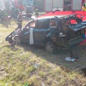 Nowy Tomyśl - W wypadku na autostradzie ginie obywatel Estonii, ranna dwójka dzieci