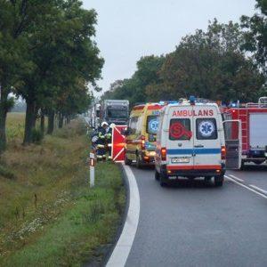 Tragiczny w skutkach wypadek na drodze krajowej nr 15.