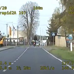 Nowy Tomyśl: Motocyklem pędził ponad 120km/h w terenie zabudowanym [FILM]
