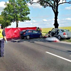 Tragiczny wypadek drogowy - zginęło dwóch kierowców