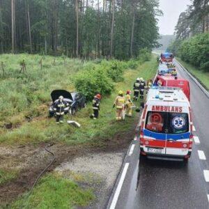 Kolejny groźny wypadek na zakrętach drogi wojewódzkiej numer 307