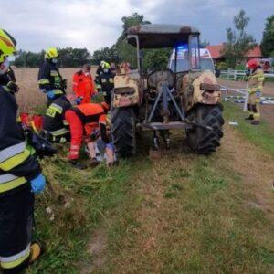 Lipka Wielka: rolnik najechany przez ciągnik rolniczy