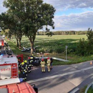 Bardzo groźny wypadek na skrzyżowaniu DK92 w okolicy Posadowa