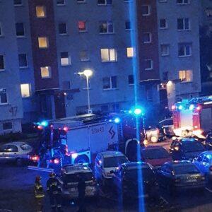 Nowy Tomyśl: Akcja Straży Pożarnej na os. Batorego
