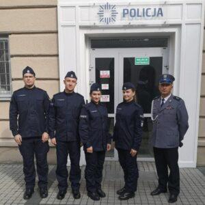 4 nowych funkcjonariuszy w Komendzie Powiatowej Policji w Nowym Tomyślu