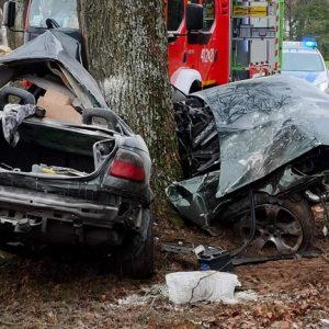 Tragiczny wypadek na drodze wojewódzkiej. Nie żyje młody mężczyzna [AKTUALIZACJA]