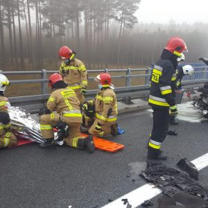 Kolejny bardzo groźny wypadek na Autostradzie Wolności