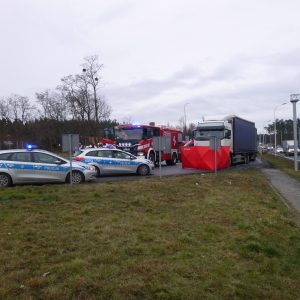 Śmiertelne potrącenie w pobliżu drogi krajowej
