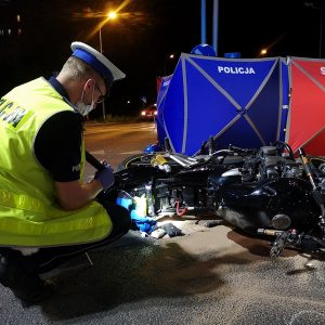 Tragiczny finał wypadku z udziałem motocyklisty
