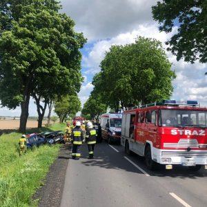 POWIAT NOWOTOMYSKI: wypadek samochodu osobowego