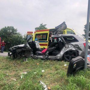LWÓWEK: Bardzo groźny wypadek na obwodnicy