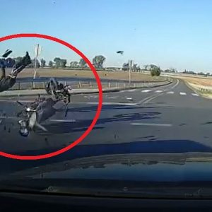 Uderzył w motorowerzystę, nie miał prawa jazdy [FILM]